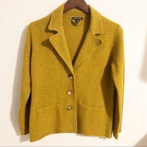Eileen Fisher Mustard 3 Button Blazer size XS